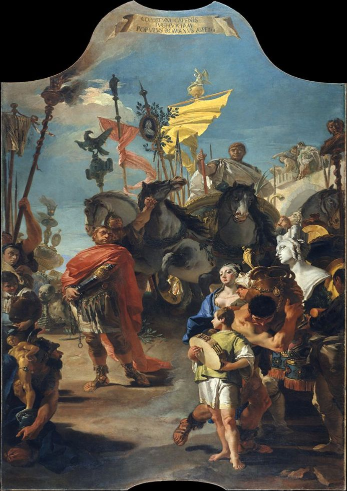 Tiepolo, Giovanni Battista: The Triumph of Marius. Roman Historical Fine Art Print/Poster. Sizes: A4/A3/A2/A1 (00220)